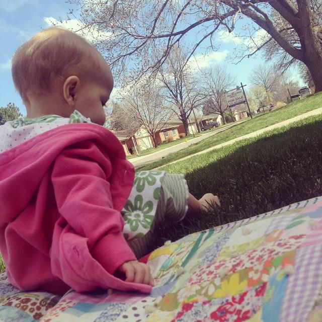 sophia in grass