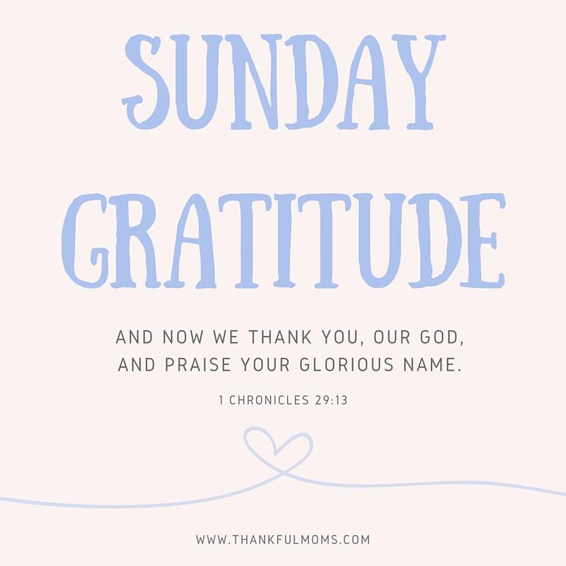 sunday gratitude