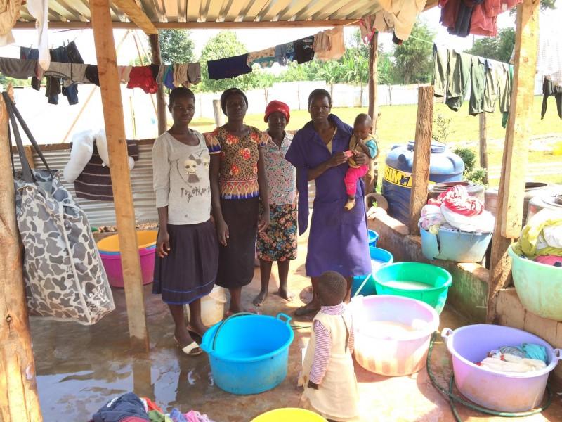 handwashing clothes for 52 children
