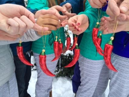 chili pepper ornaments