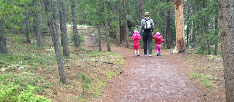 J hike with madelyne and lily