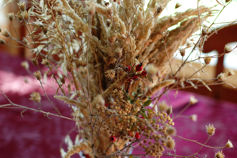 fall grasses centerpiece