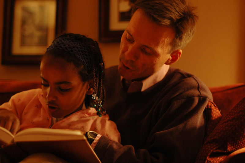 Daddy Kalkidan reading